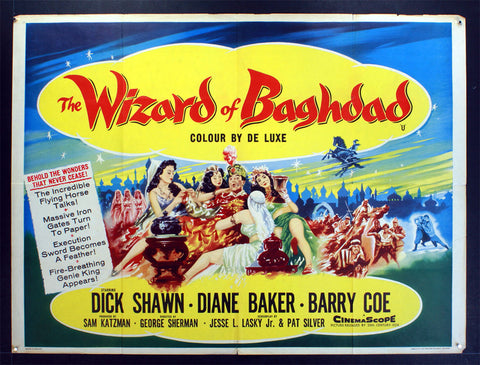Wizard of Baghdad (1960) British Quad Movie Poster