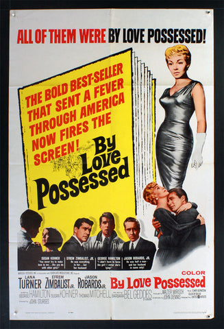 By Love Possessed (1961) US One Sheet Movie Poster [Dupe2]