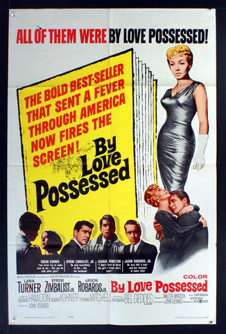 By Love Possessed (1961) US One Sheet Movie Poster [Dupe1]
