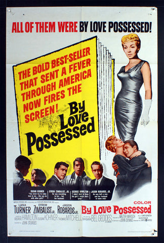 By Love Possessed (1961) US One Sheet Movie Poster