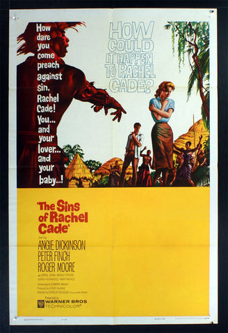 Sins of Rachel Cade (1960) US One Sheet Movie Poster [Dupe]
