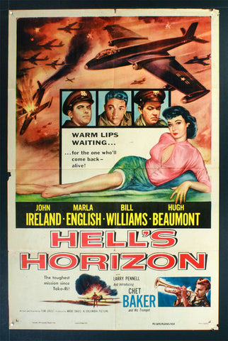 Hell's Horizon (1955) US One Sheet Movie Poster
