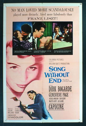 Song Without End (1960) US One Sheet [Dupe 1]