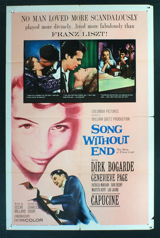 Song Without End (1960) US One Sheet