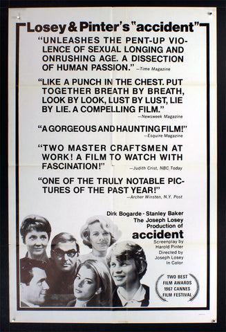 Accident (1967) US One Sheet [Reviews] [Dupe]