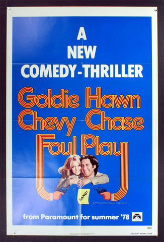 Foul Play (1978) US One Sheet [Blue Advance Style]