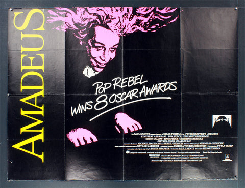 "Amadeus (1984) Awards British Quad ""Pop Rebel"""
