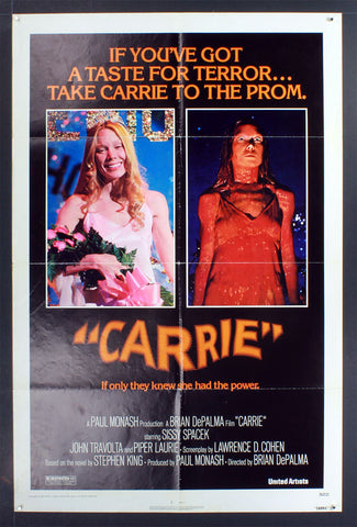Carrie (1976) US One Sheet