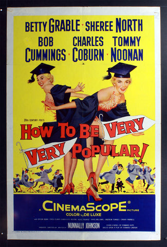 How to be Very, Very Popular (1955) US One Sheet