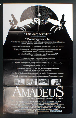 Amadeus (Reviews) (1984) US One Sheet