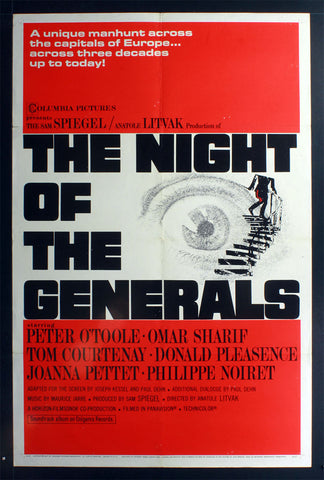 Night of the Generals (1967) US One Sheet