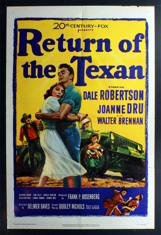 Return of the Texan (1952) US One Sheet