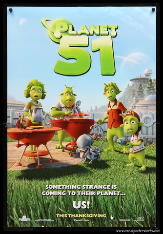 Planet 51 (Tri-Star Pictures - 2009) Advance US One Sheet