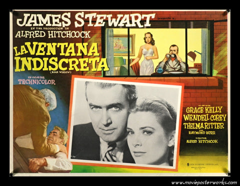 Rear Window (1954) Mexican Lobby Card (Grace and Jimmy)