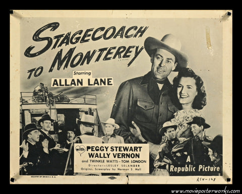 Stagecoach to Monterey (R-1954) US Lobby Card (Title)