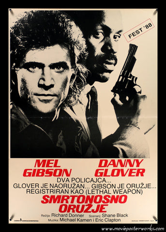 Lethal Weapon (1987) Yugo Movie Poster