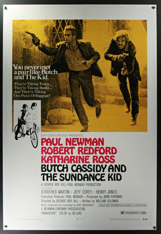 Butch Cassidy & The Sundance Kid (1969) US One Sheet (Style B) Linenbacked