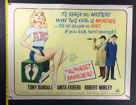 Alphabet Murders (1965) US Half Sheet