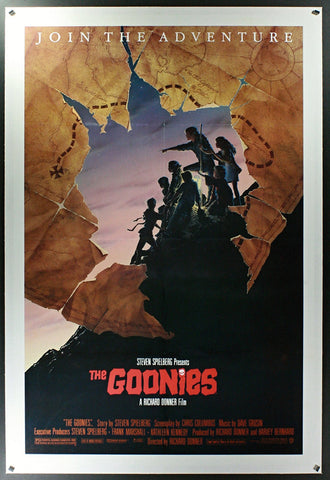 Goonies (1985) US One Sheet (Map Style) Linenbacked