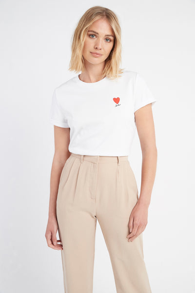 Kookai Heart Patch Tee