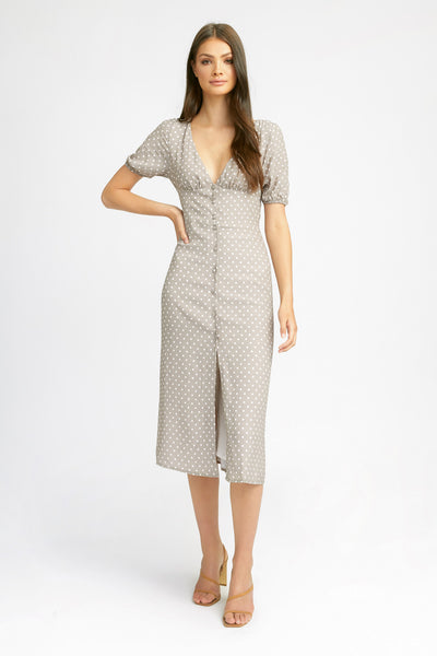 Alesha Spot Midi Dress
