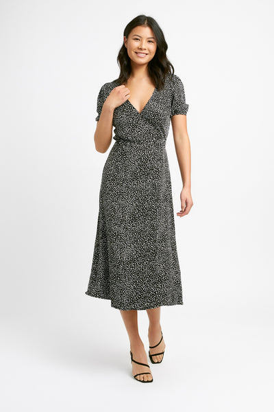 Snow Leopard Wrap Dress