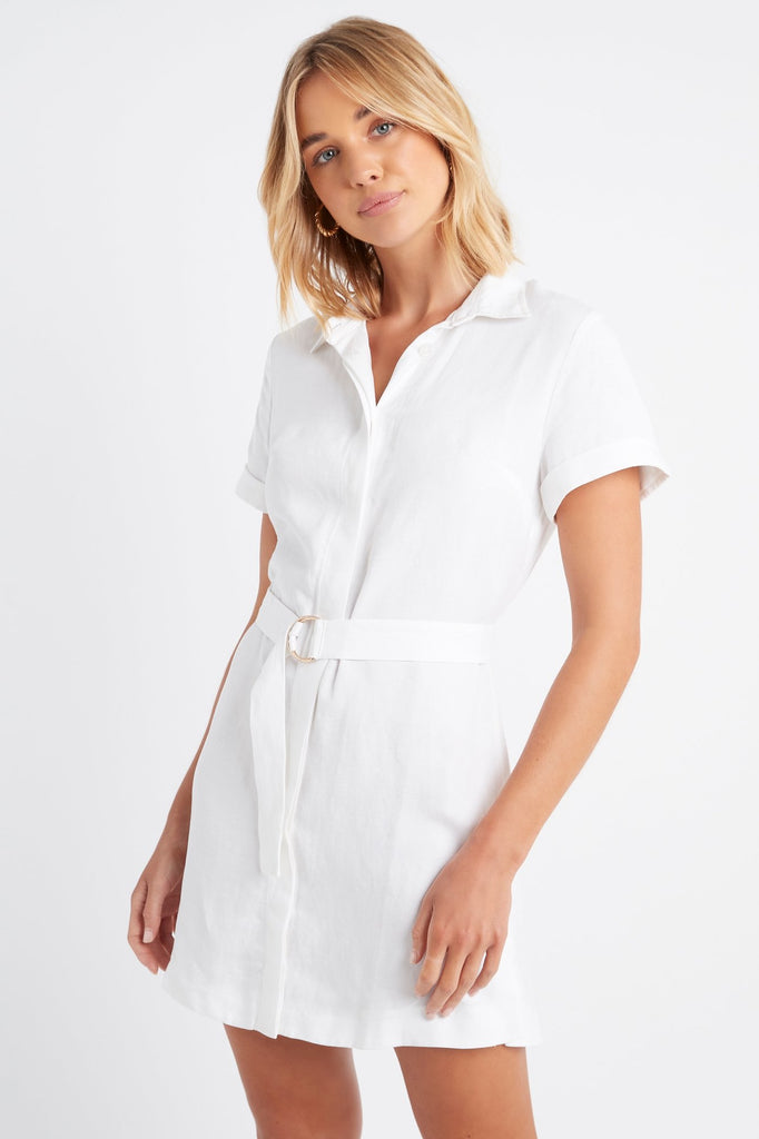 Shoreline Belted Shirt Dress