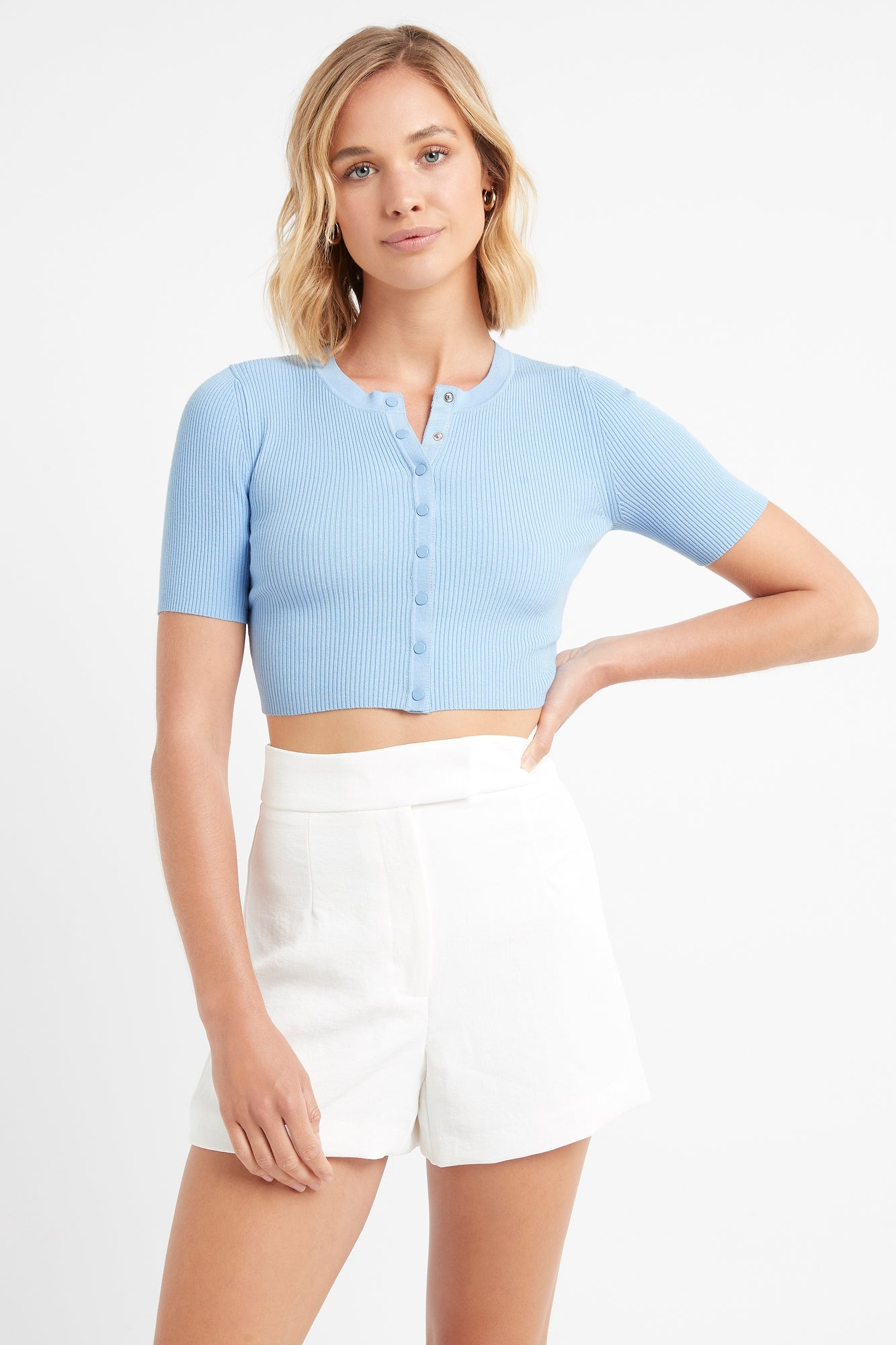 Lola Cropped Short Sleeve Cardigan