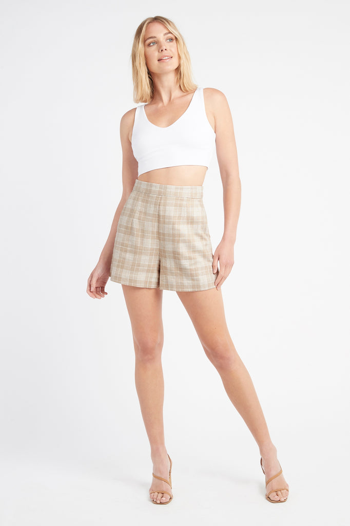 Kiki Check Shorts