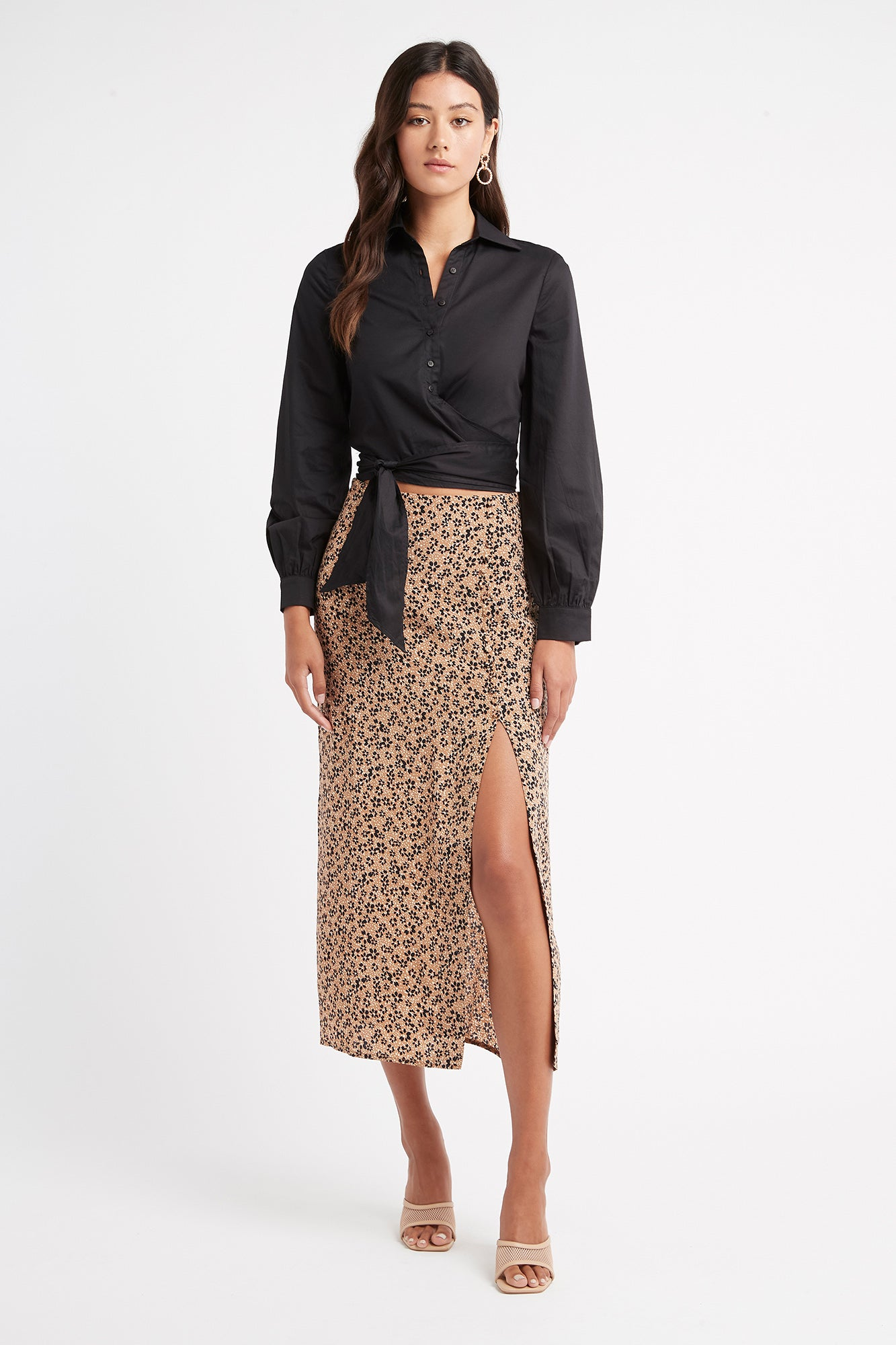 Tyla Midi Split Skirt