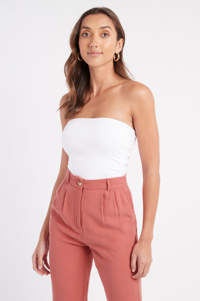 Clare Gathered Crop Top