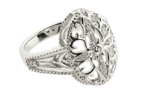 Heart Motif Collection Ring