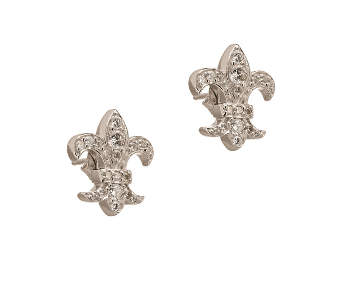 The Louisiana Saint Fleur de Lis Post Earrings