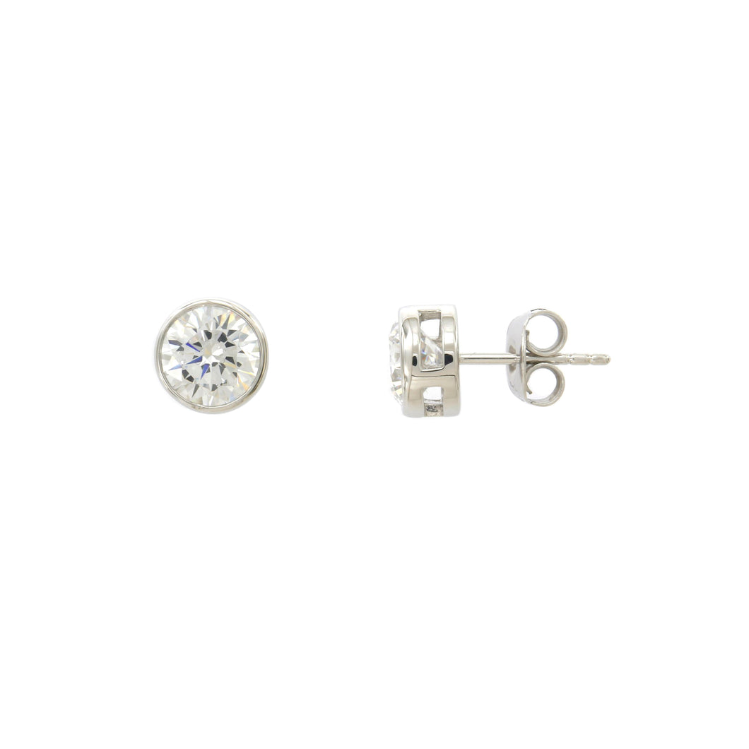 8 mm Cubic Zirconia Stud Earring