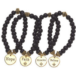 "71/2"" Wooden Signature Bracelet Set"