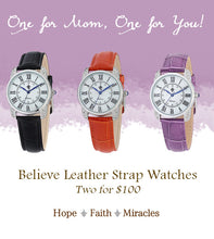 Believe Leather Strap Watch (Final Sale)