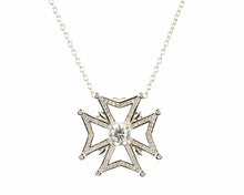 Maltese Cross with Cubic Zirconium Center