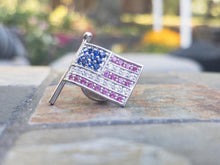 Sterling Silver American Flag Pin