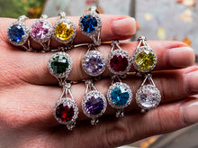 Split Shank Colored CZ Fashion/Birthstone Ring