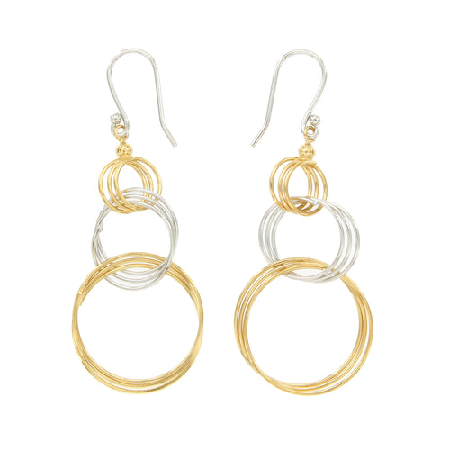Tapered Concentric Circle Drop Earring