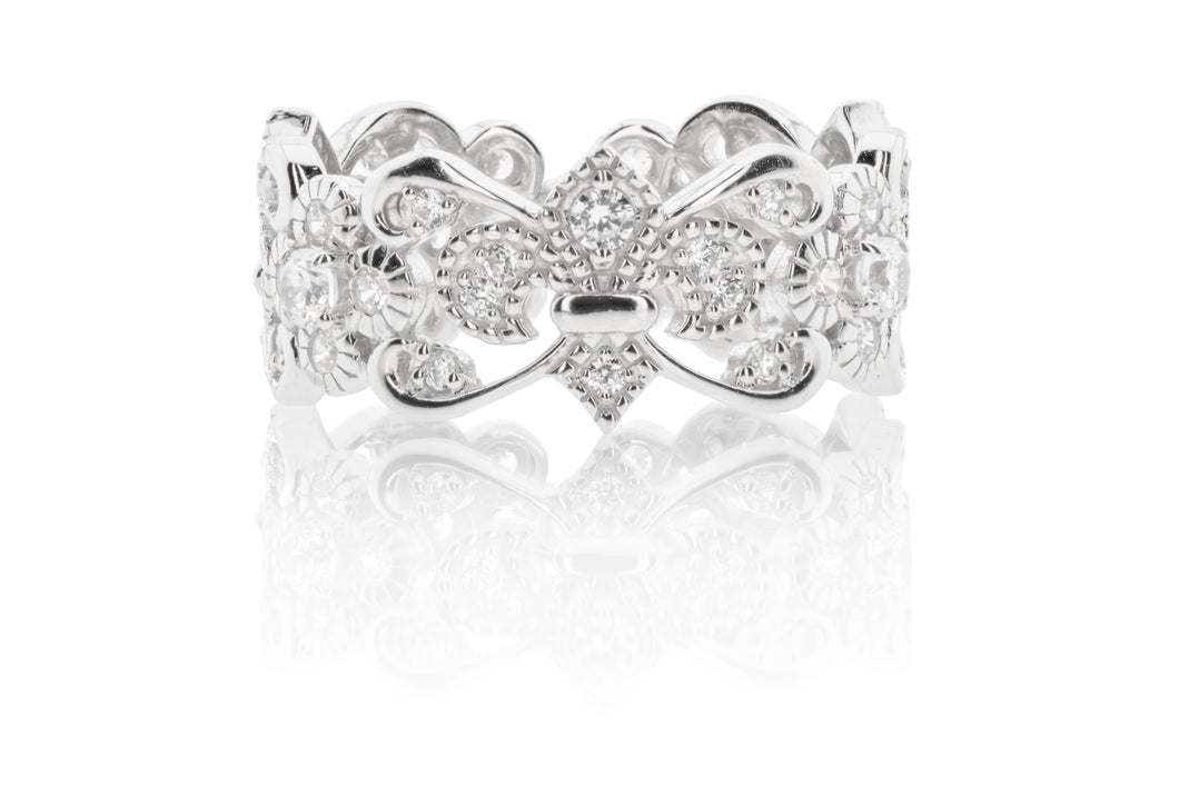 Fleur de Lis Scroll Band(ships Sept 2019)
