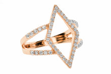 New Version CZ Diamond Shape Frame Ring