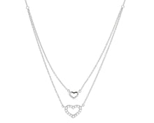 Petite Double Heart Bib Necklace (ships in late November 2020) pre-order now