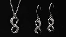 Eternity Silver CZ Pendant/Earring Set