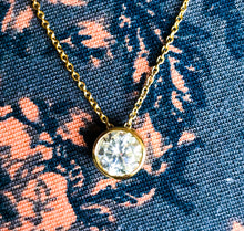 Solitaire CZ Necklace