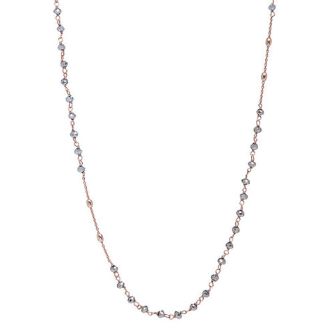 "30"" Rondell Pyrite & Bead Necklace"