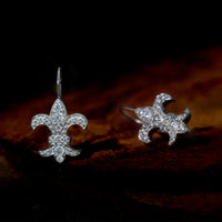 Fleur De Lis Drop Earrings