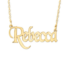 "Signature ""Rebecca"" Bold Script Necklace (Special Order Custom Product)"