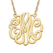 Personalized, Fancy 3 initial script monogram necklace(Special Order Custom)