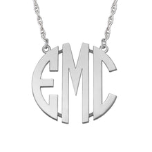 Personalized, Block 3 initial monogram necklace (Special Order Custom)